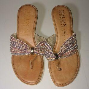 Italian Shoemakers Wedge Sandals Size 8.5